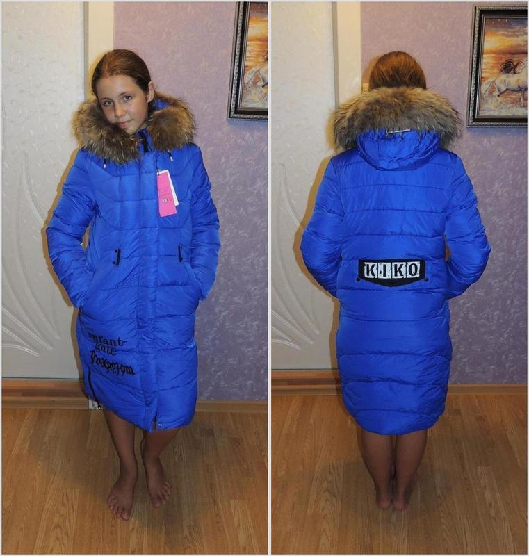 6a92fd09aae Зимнее пальто куртка для девочки kiko 134-140-146-152-158-164