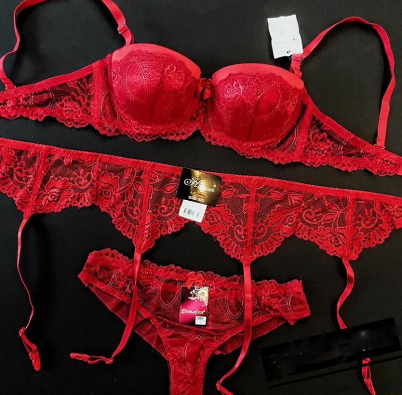Красное женское белье комплект красивое белье прозрачное женское