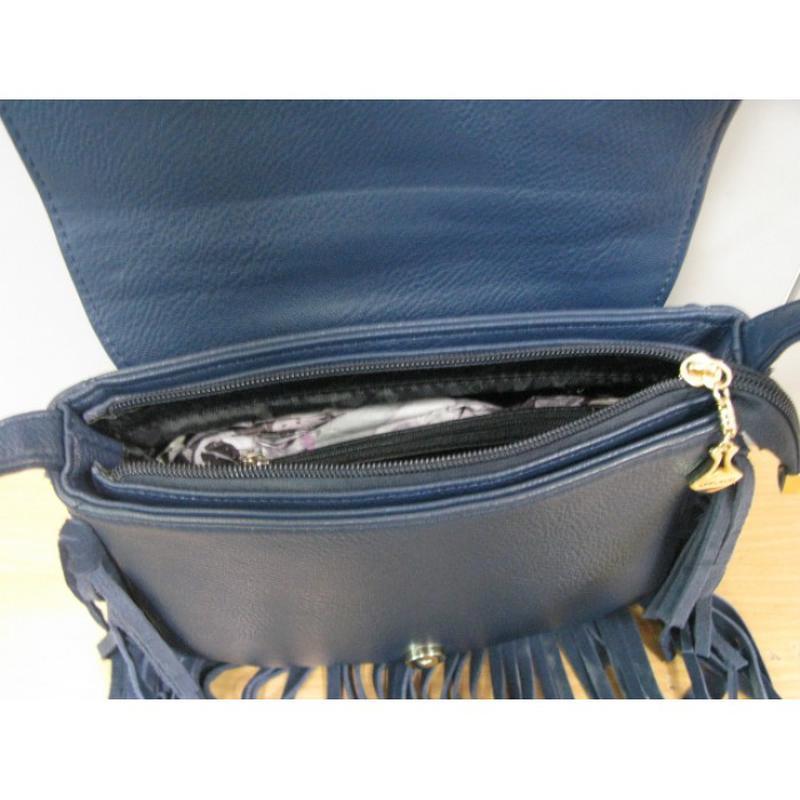 061da476be87 Сумка - клатч синяя замшевая applaud с с бахромой, цена - 1000 грн ...