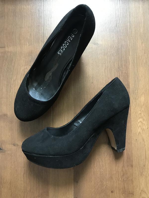 Стильные черные туфли на широком каблуке peacocks 39pp Peacocks ... 1a76eeb0a0b3c