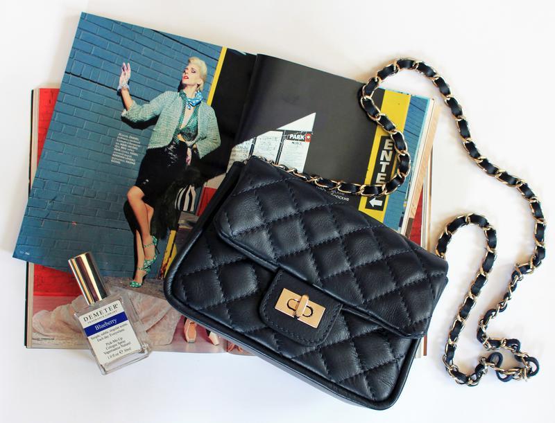 Стеганая темно-синяя кожаная сумка в стиле шанель, италия1 ... 22f4d455daf