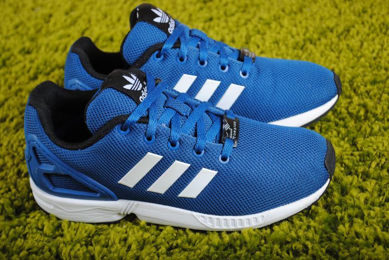 562610ee Синие детские кроссовки adidas zx flux (адидас) 33 размер. оригинал1 фото  ...