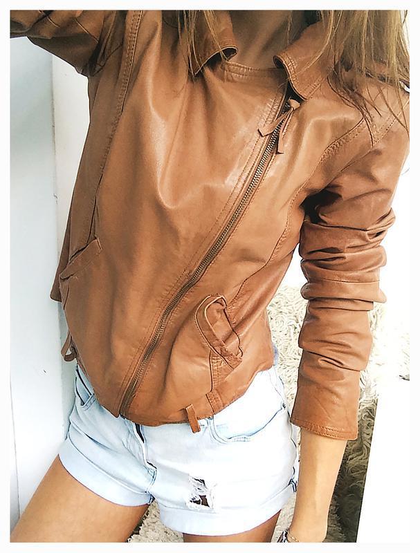 Роскошная рыжая куртка - косуха из натуральной кожи и льна от stradivarius1  ... 23bd74fb5619a