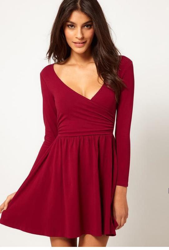 6172fcd86976584 Платье asos бордового цвета распродажа ASOS, цена - 240 грн ...