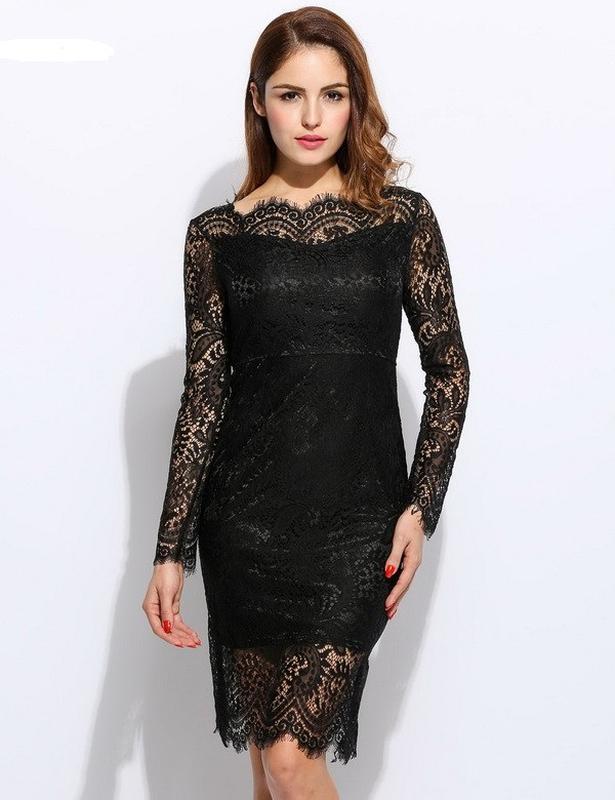 cbc2f5872d0 Черное кружевное платье.1 фото ...