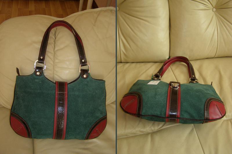 0396b5bd63d8 ... Объемная замшевая + кожаная сумка - 100% натуральная кожа + замша -  новая3 фото ...