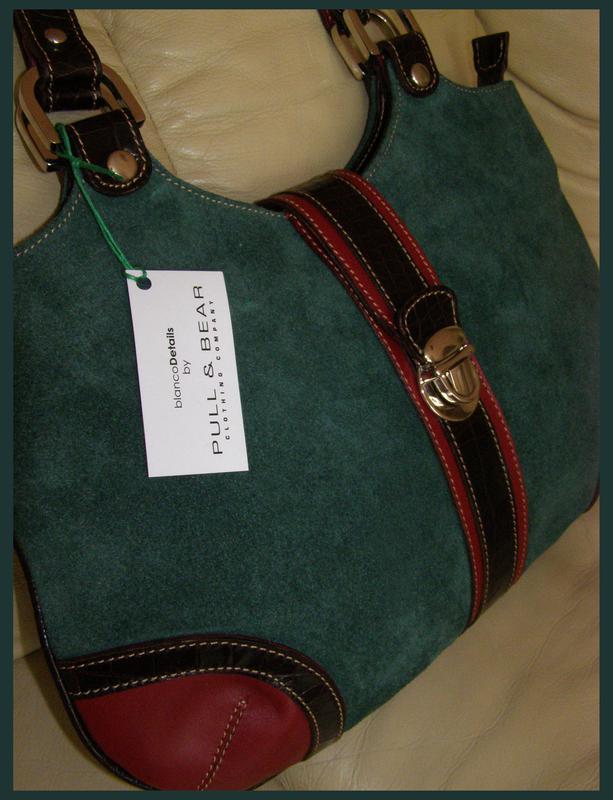 d252c178c24e Объемная замшевая + кожаная сумка - 100% натуральная кожа + замша - новая1  фото ...