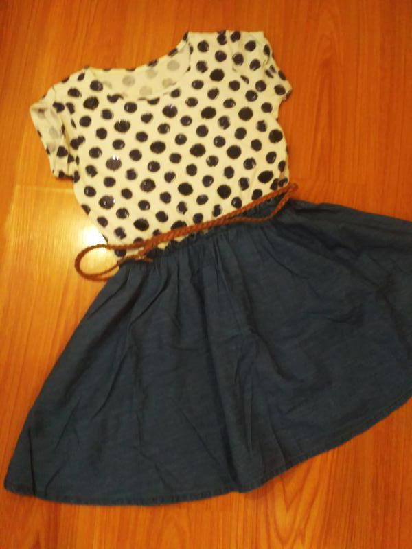 Отличное платье в горошек Children s Place 76aef7962a761