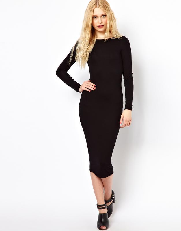 ef19d96dc48 Облегающее платье миди с длинными рукавами1 фото ...