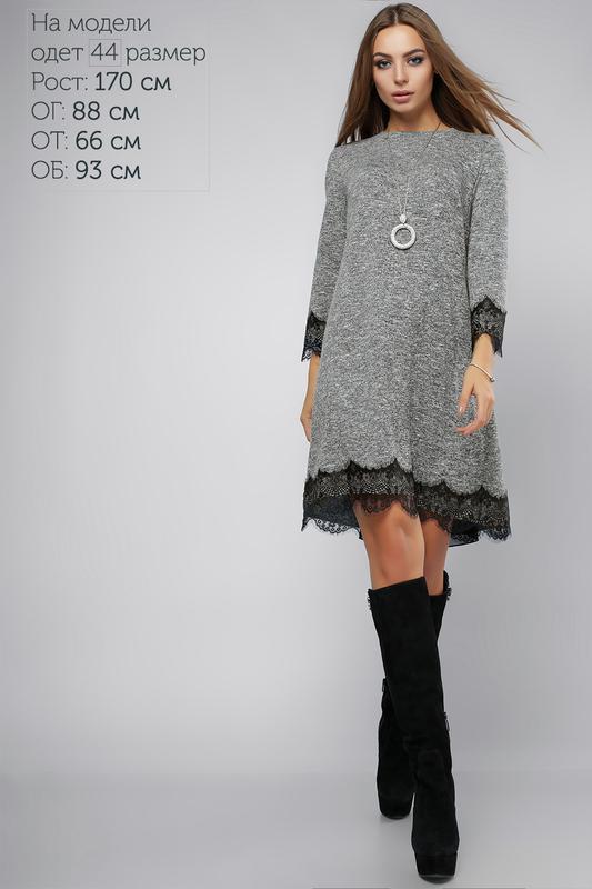 02155f157a4 Трикотажное платье с шифоном+ отлелка кружевом1 фото ...