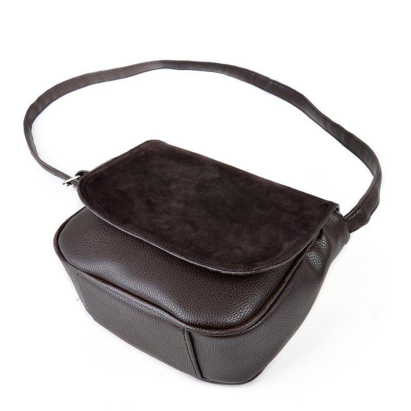 d76670296abe Коричневая замшевая женская сумочка через плечо кроссбоди, цена ...