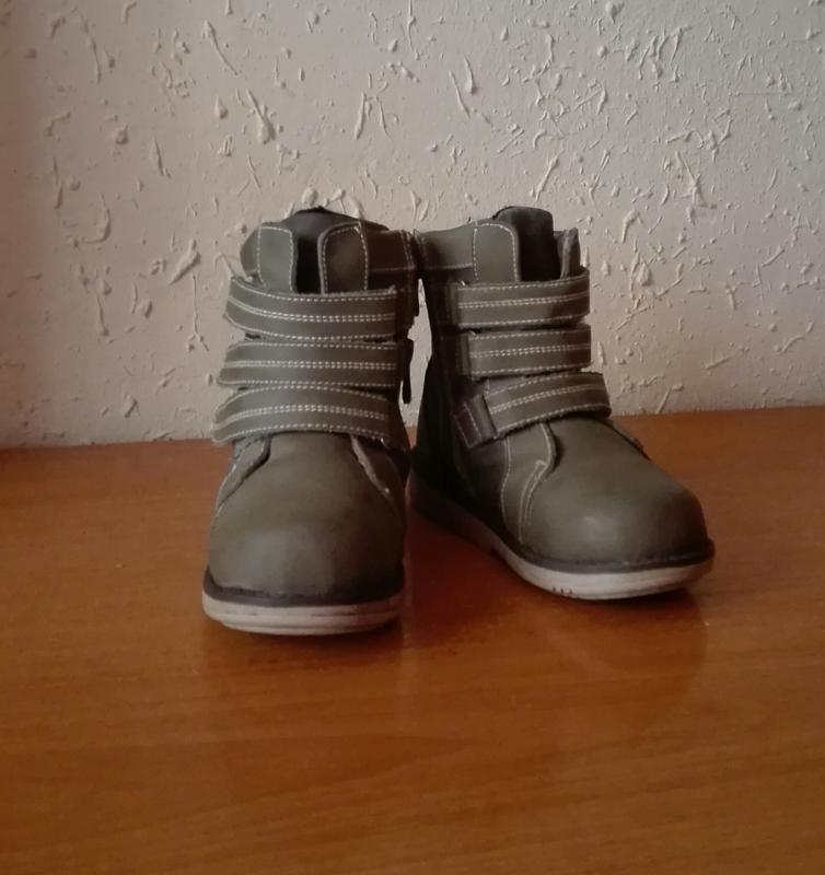 Зимові шкіряні ортопедичні черевички для хлопчика 27924c4d6a48e
