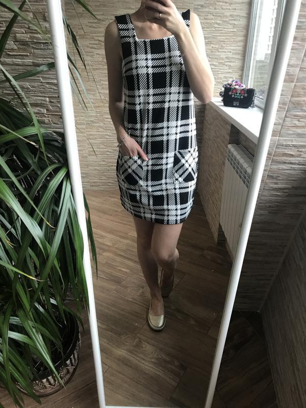 3a23a6fa4ec Платье сарафан в черно-белую клетку в стиле одри хепберн New Look ...