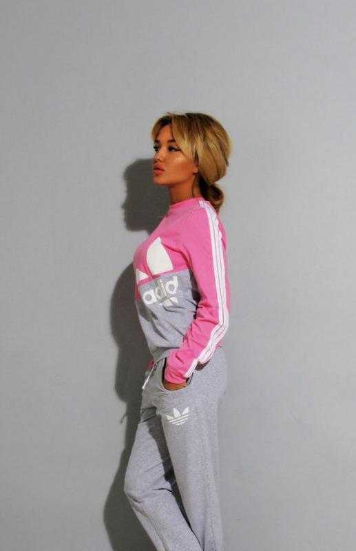 Новый женский спортивный костюм s m l мятный + розовый жіночий костюм1 ... 7f96f6a554ed7