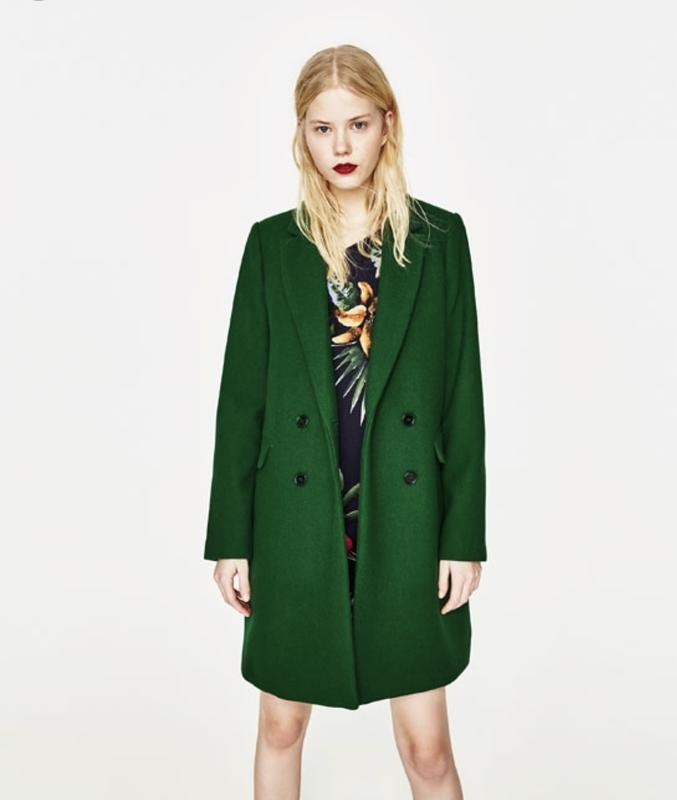 купить зеленое пальто 6