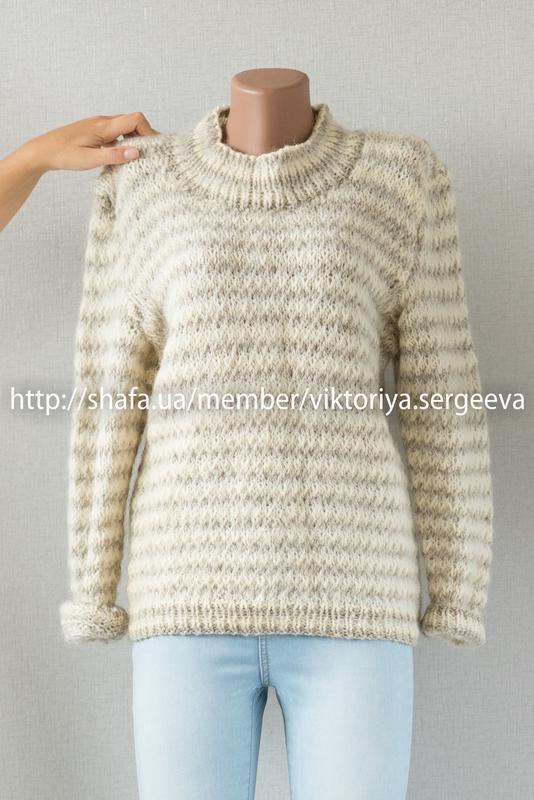 d8362df681b Шикарный очень теплый шерстяной свитер с актуальным горлом1 ...