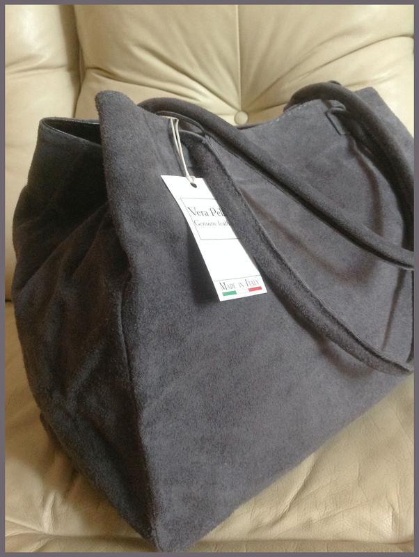 9fcefc8b5983 Большая замшевая сумка мешок – 100% натуральная кожа – италия - новая1 фото  ...