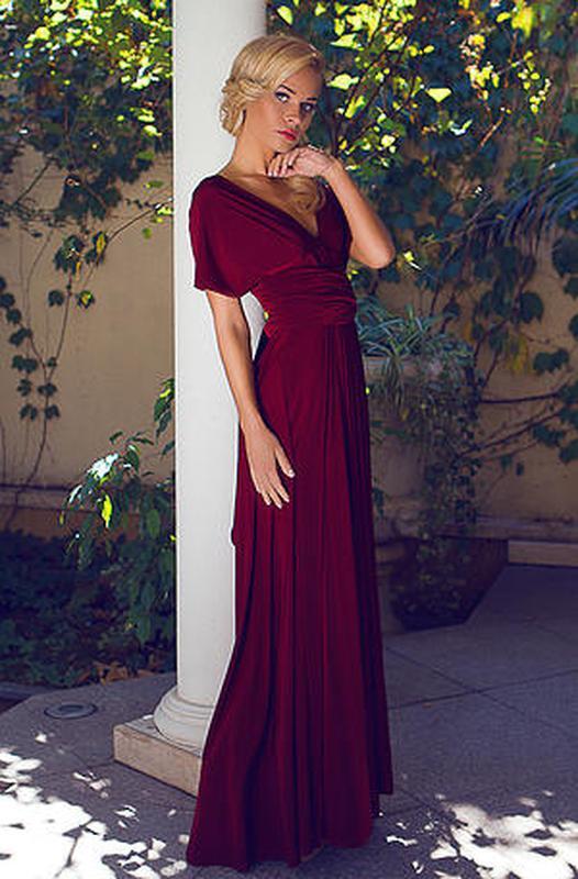 Марсала платье трансформер