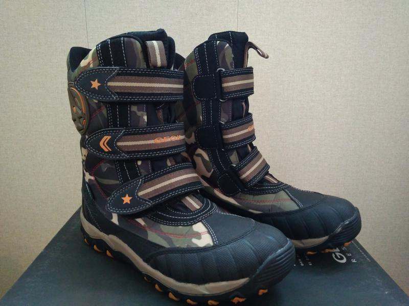 Детские новые зимние ботинки geox Geox 107b7c2e03ed0