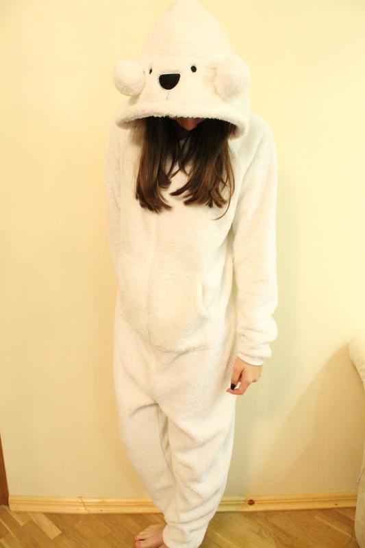 Крутая женская пижама кигуруми белый мишка размер m george George ... 373334d369b5b