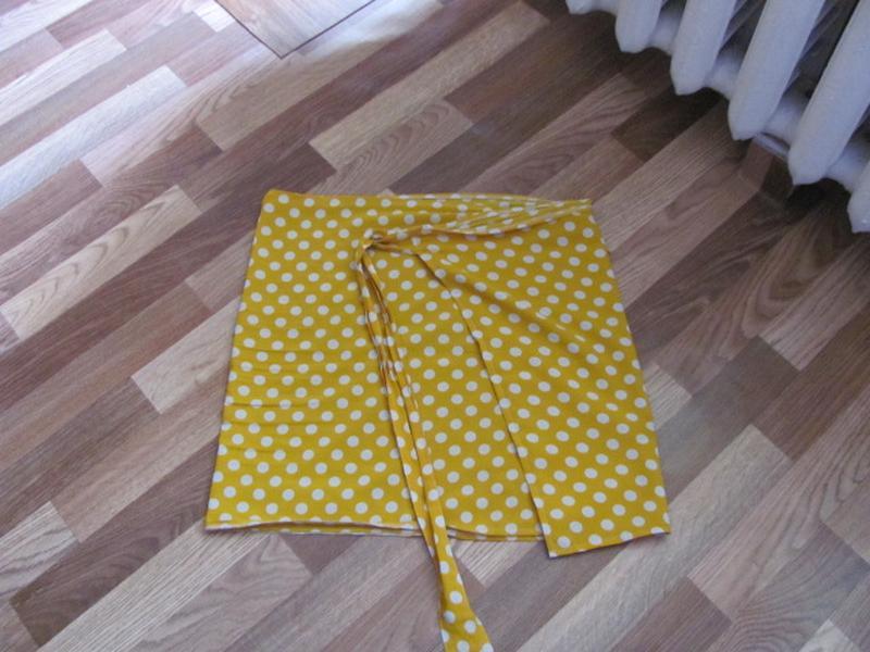 Фото юбка с запахом на завязках