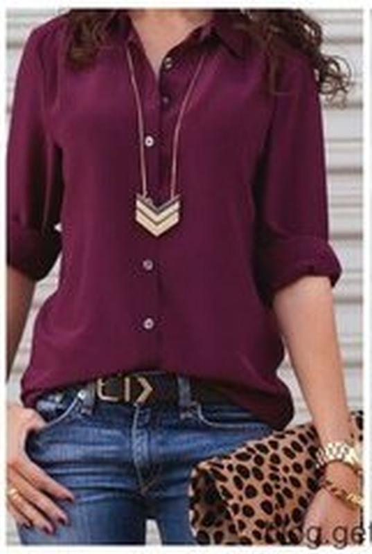 Купить блузку цвета марсала