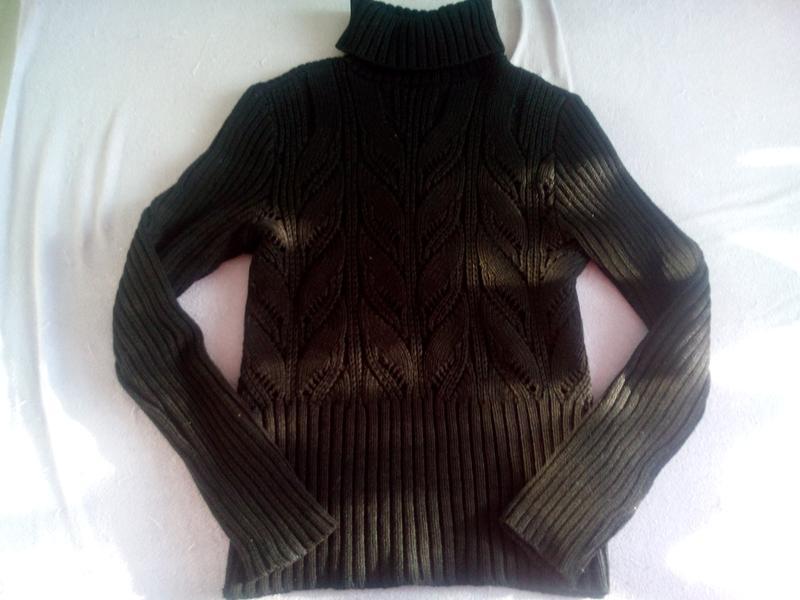 a50e8e7e270 Очень теплый черный вязаный свитер с горлом1 ...
