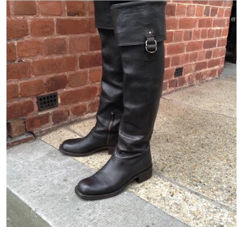 Miu miu оригинал италия коричневые дизайнерские высокие сапоги размер 40  prada1 ... c131782db1a