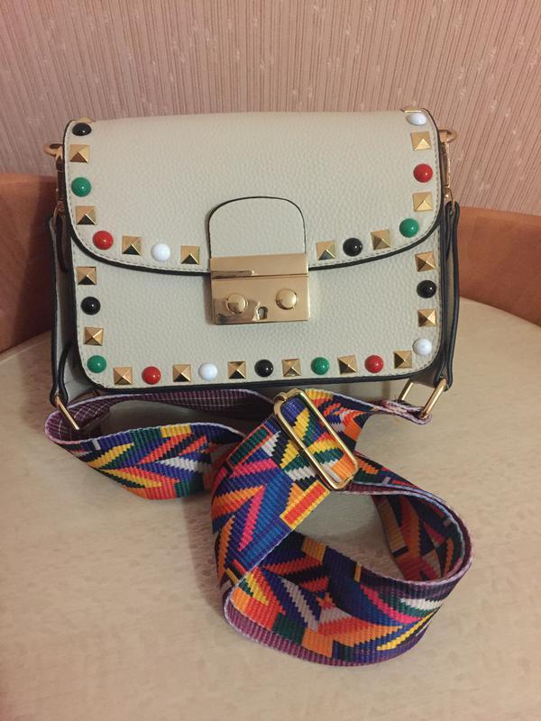 6a670471e55b Стильная сумочка с ярким ремешком, цена - 360 грн, #8202555, купить ...