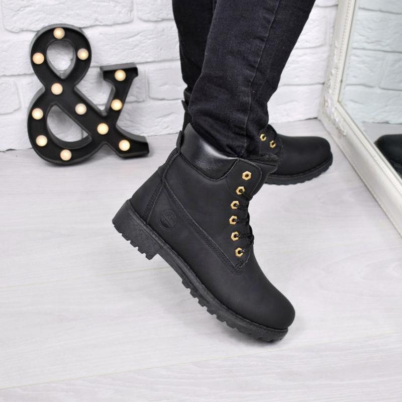 ab348a5a4e3d Ботинки женские timber черные зима 3778, цена - 510 грн,  8211583 ...