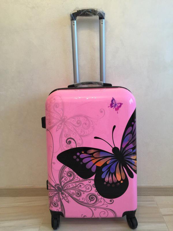 38dda66b8f9d Самовывоз киев! чемодан поликарбонат бабочка валіза дорожная сумка1 фото