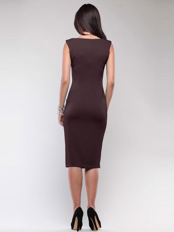 040d2896cea ... Очень красивое платье-футляр шоколадного цвета итальянской фирмы.3 фото  ...