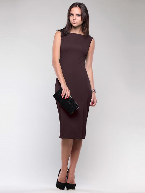 1f5a7b4b5fc Очень красивое платье-футляр шоколадного цвета итальянской фирмы.1 фото ...