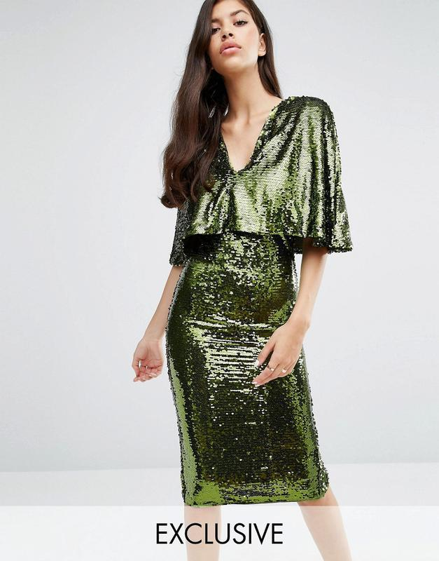 b79739b5c82aceb Аsos блестящее зеленое платье пайетки ASOS, цена - 1100 грн ...