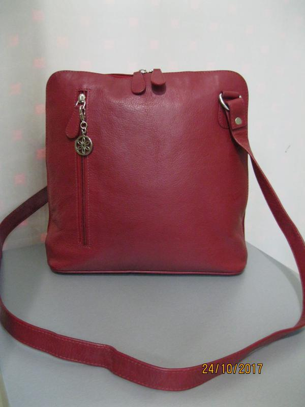 ea91aa127069 Кожаная(натуральная кожа) новая сумка кроссбодии фирмы nu-lu британия1 ...