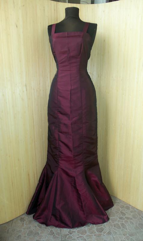 Вечернее винтажное длинное платье бюстье цвета марсала  винный  бургундии   красный1 ... e7f18a41e4359
