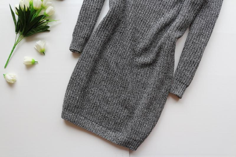 a0460c11332 ... Актуальное вязаное платье свитер с широким горлом3 фото ...