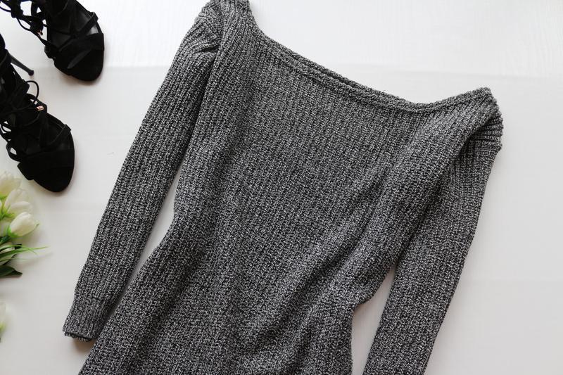 53d10cf694d ... Актуальное вязаное платье свитер с широким горлом4 фото ...