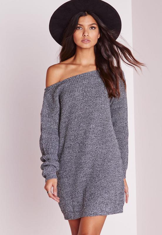 50a5c22ccb1 Актуальное вязаное платье свитер с широким горлом1 фото ...