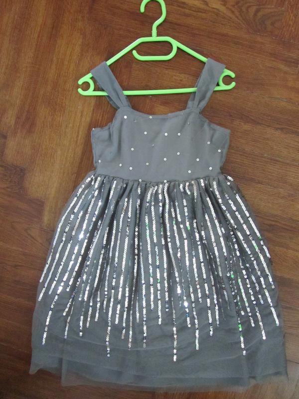 f658291422f Нарядное платье в пайетках h m на девочку 8-10 лет 134-140 рр1 фото ...