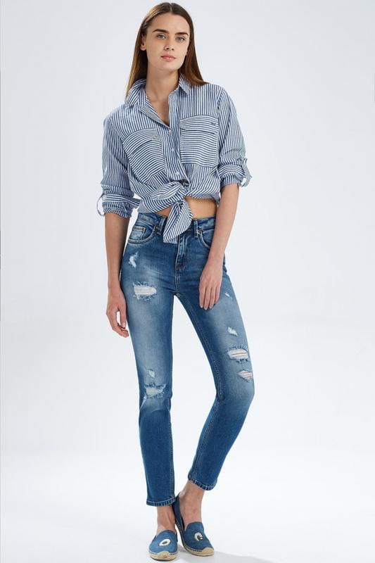 432469e3ce0 Рваные джинсы облегающие скинни завышенная талия модель ltb lina slim hight  rise1 фото ...
