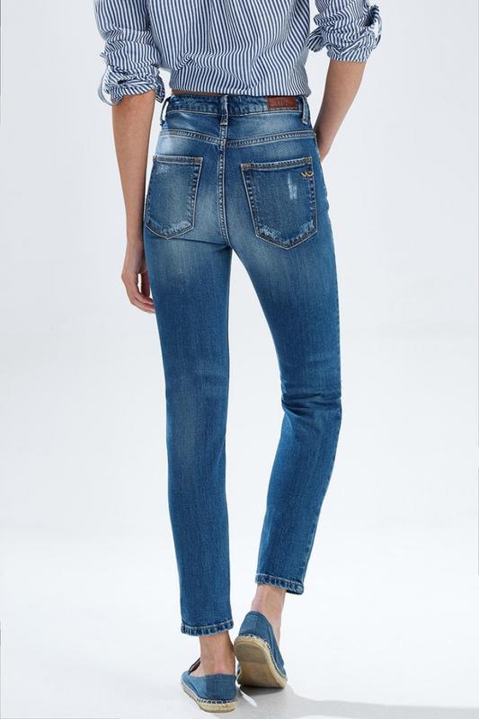 4c39e2ff155 ... Рваные джинсы облегающие скинни завышенная талия модель ltb lina slim  hight rise4 фото ...