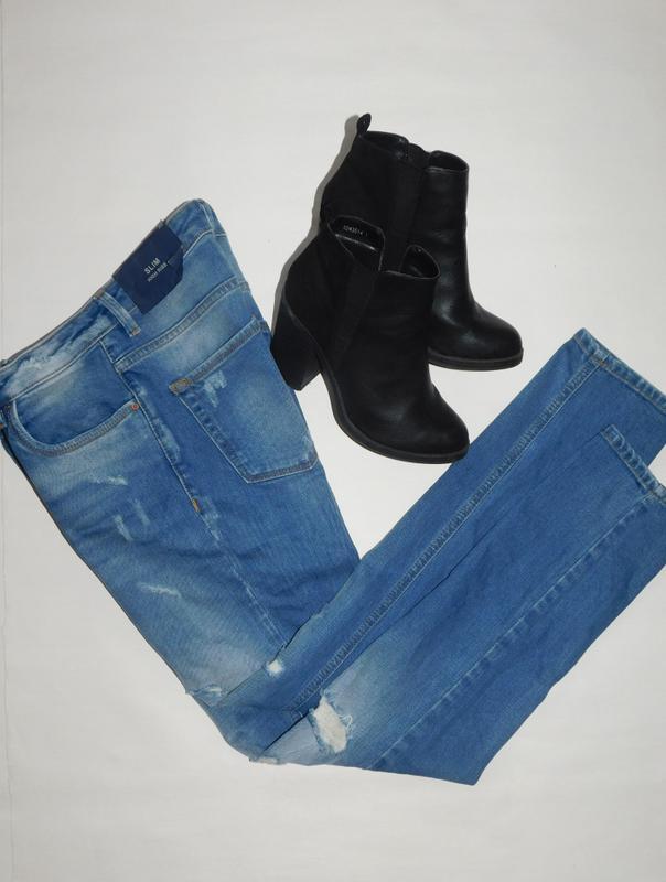 806a515e1e3 ... Рваные джинсы облегающие скинни завышенная талия модель ltb lina slim  hight rise5 фото