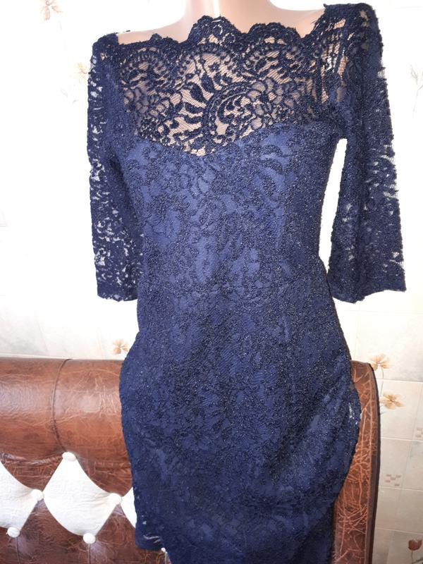 d64e9b61259b946 Синее платье гипюр кружева Next, цена - 149 грн, #8539858, купить по ...