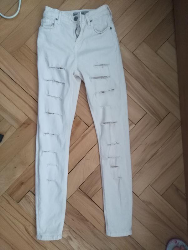 Рвані джинси з високою талією Topshop 05e839ec2fa49