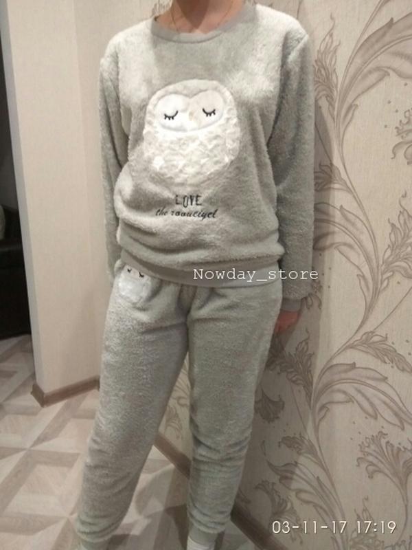 38383a8046d3d ... В наличии махровая новая теплая пижама женская домашний костюм3 фото