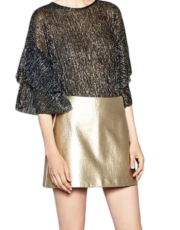 a14fb71eb0bd Золотая кожаная юбка zara (ZARA) за 250 грн.