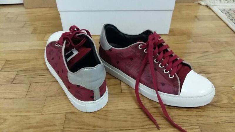 Кожаные туфли-кроссовки с лаковым носком mcm by michalsky (италия)1 ... 68820143f2f