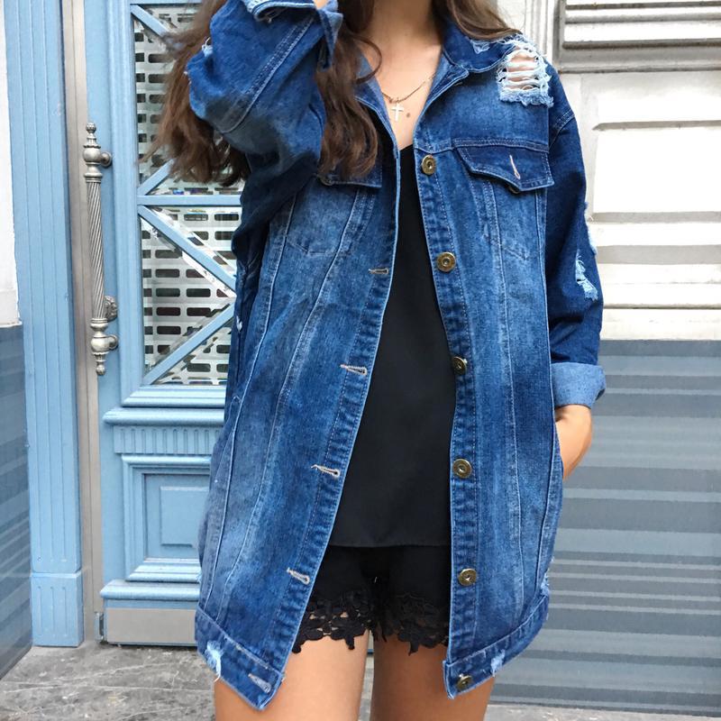 Длинные джинсовые куртки женские фото