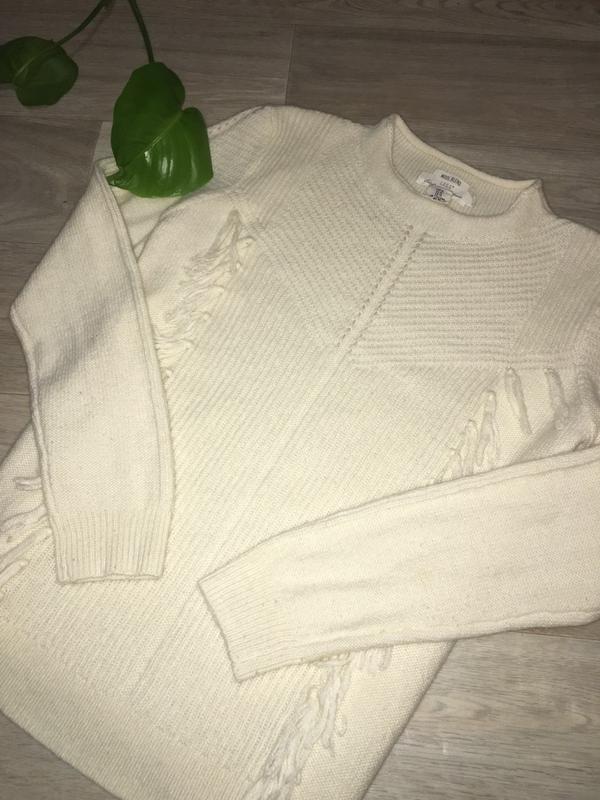 Шикарный теплый свитер от h m. шерстяной свитер с бахромой. H M ... 512c9d8c9bab6